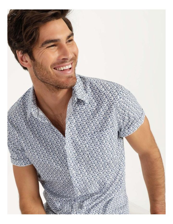 Pelican Print Short Sleeve Shirt White image 4