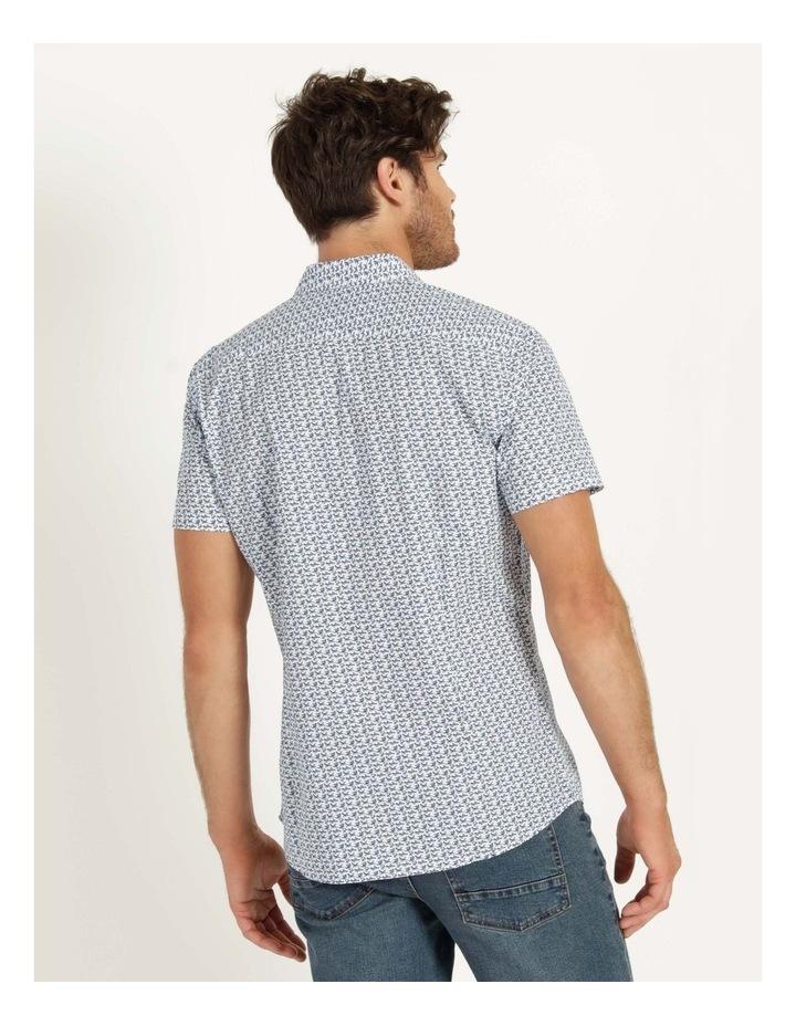 Pelican Print Short Sleeve Shirt White image 5