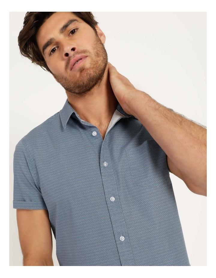 Kernie Geometric Print Short Sleeve Shirt Light Blue image 2