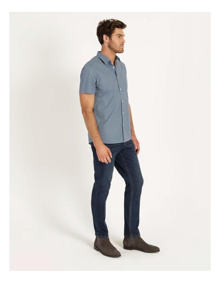 Kernie Geometric Print Short Sleeve Shirt Light Blue image 3