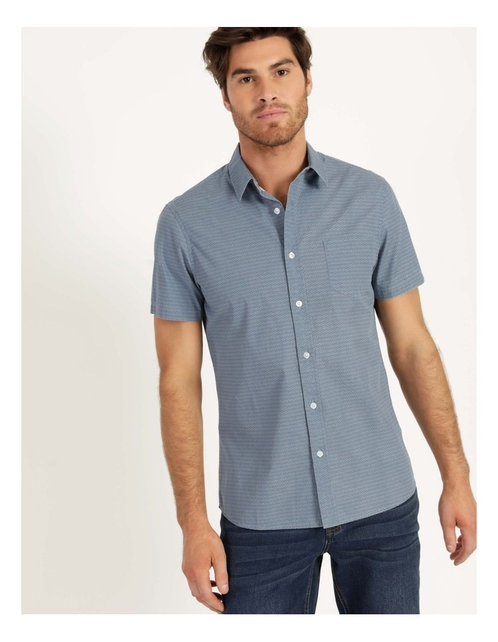 Kernie Geometric Print Short Sleeve Shirt Light Blue image 4