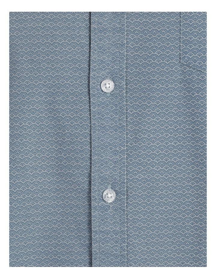 Kernie Geometric Print Short Sleeve Shirt Light Blue image 7