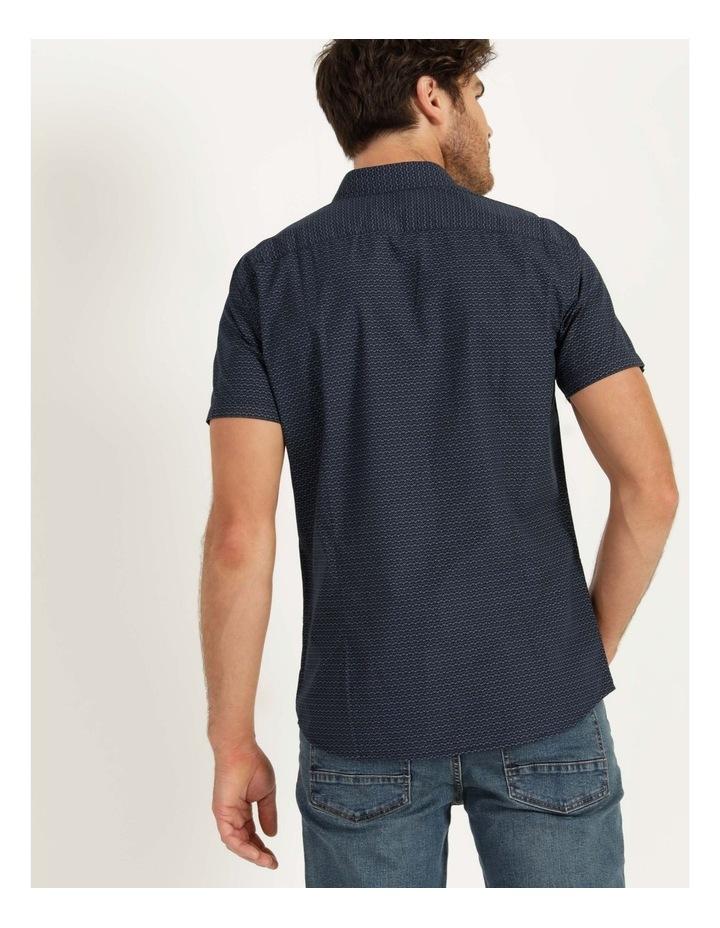Dolphin Geometric Print Short Sleeve Shirt Navy image 4