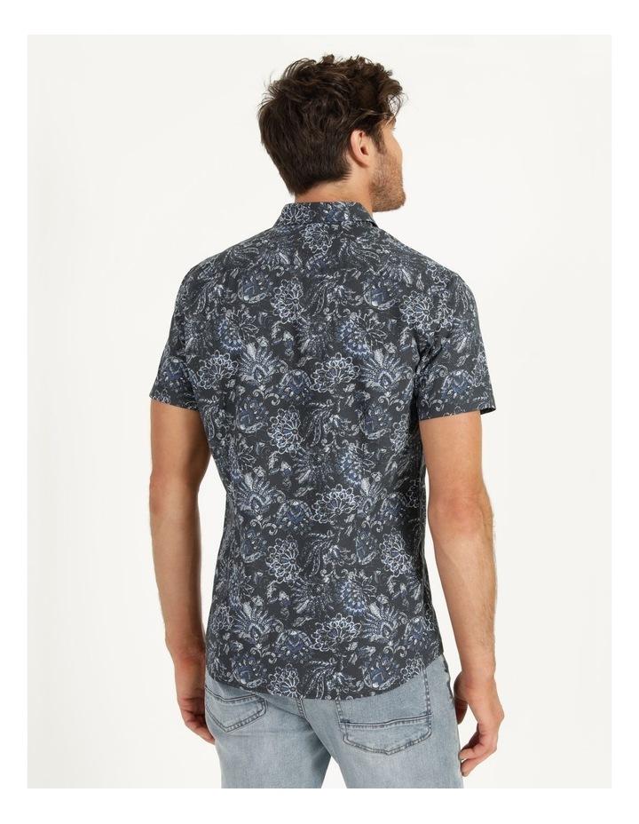 Canggu All Over Print Short Sleeved Shirt Navy image 5
