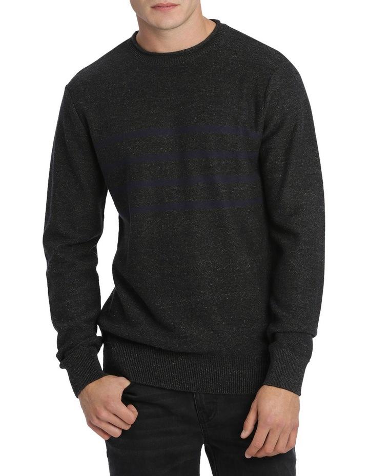 Jason Engineered Stripe Roll Neck Pullover image 1