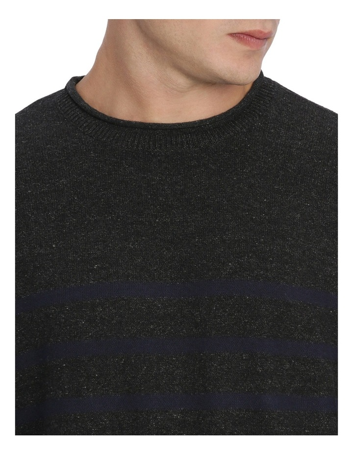 Jason Engineered Stripe Roll Neck Pullover image 4