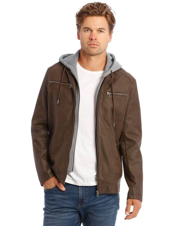 Deptford Pu Hooded Jacket image 1