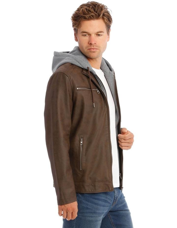 Deptford Pu Hooded Jacket image 3