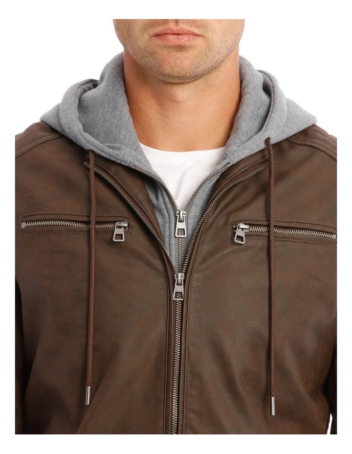 Deptford Pu Hooded Jacket image 4
