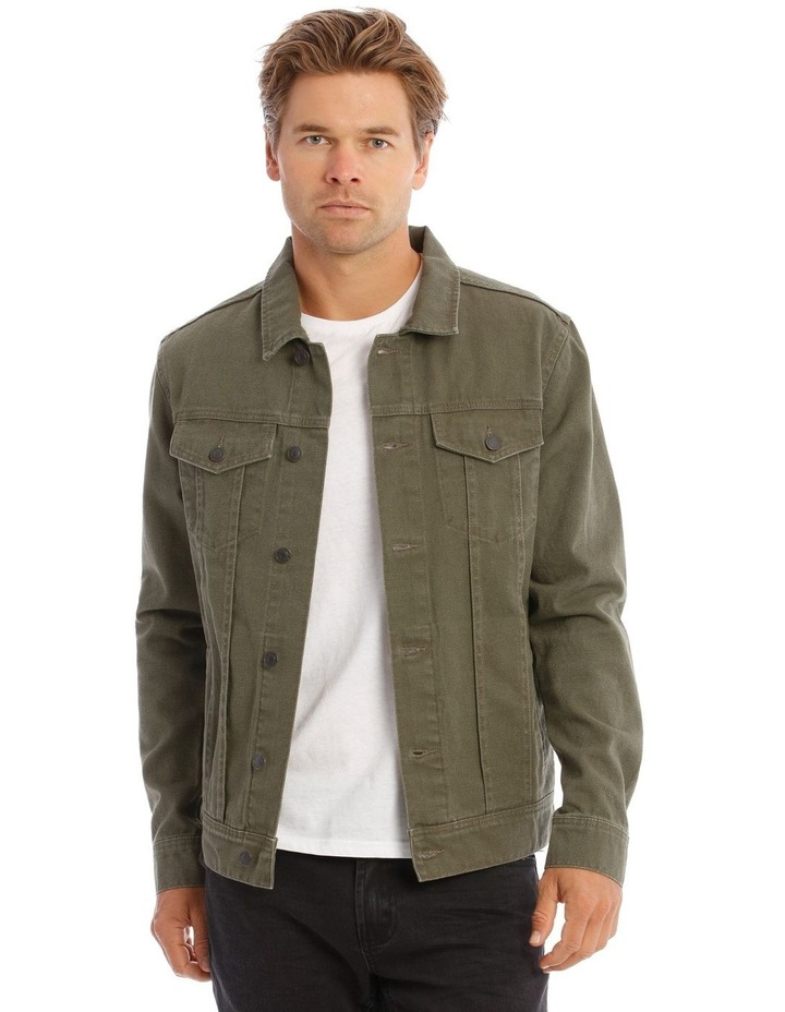 Barlow Denim Jacket In Khaki image 1