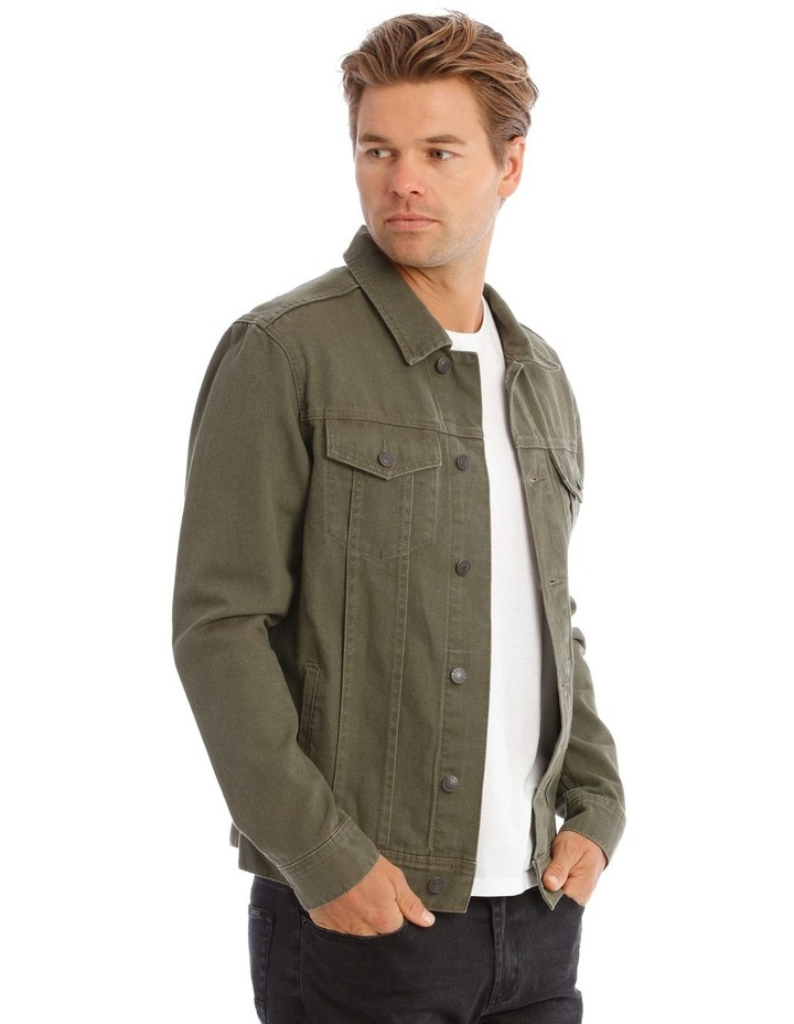 Barlow Denim Jacket In Khaki image 2
