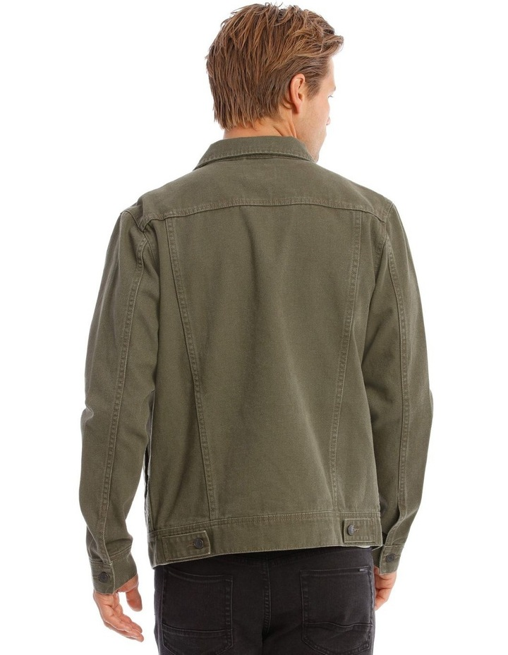 Barlow Denim Jacket In Khaki image 3