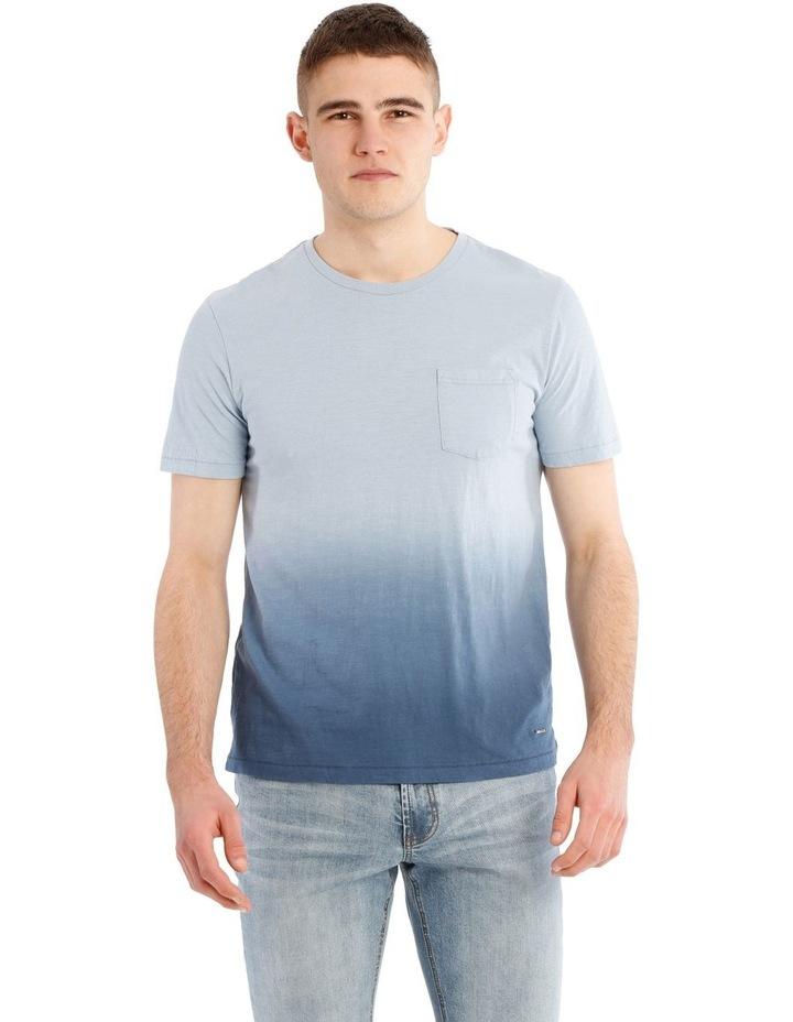Blue Haze Short Sleeve Dip Dye Tee image 1