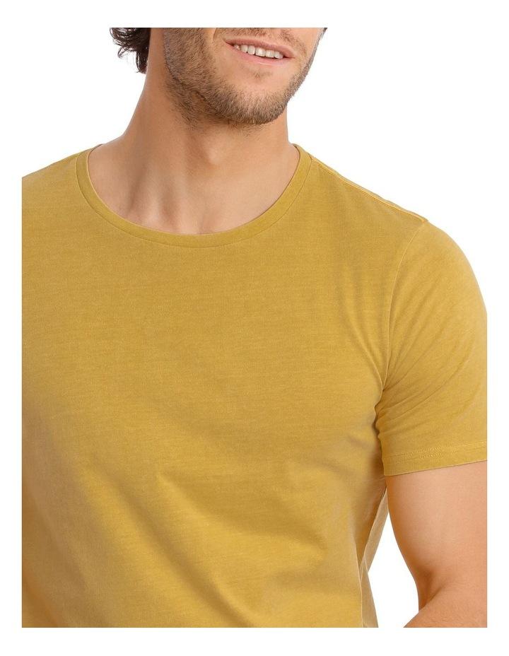 Kingscliff Snow Wash Tee in Mustard image 4