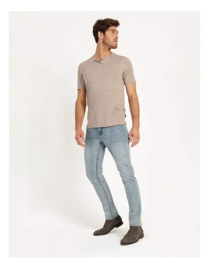 Hudson Short Sleeve Henley T-Shirt Stone image 5
