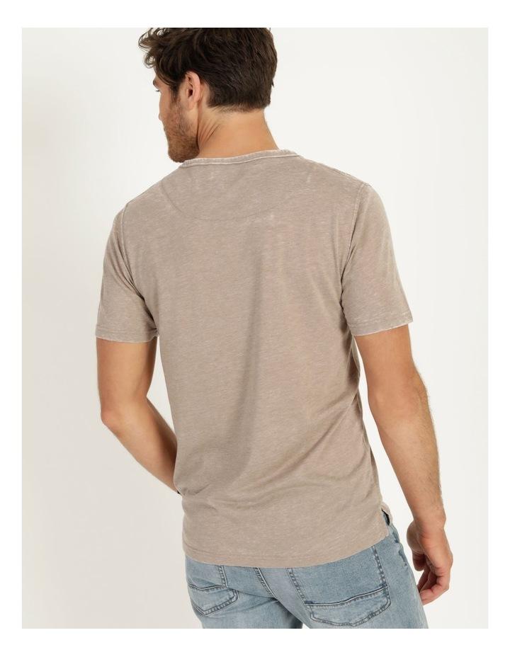Hudson Short Sleeve Henley T-Shirt Stone image 6