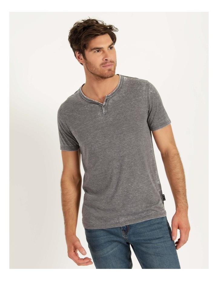 Hudson Short Sleeve Henley Grey image 1