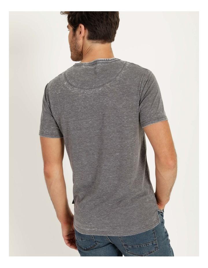 Hudson Short Sleeve Henley Grey image 5
