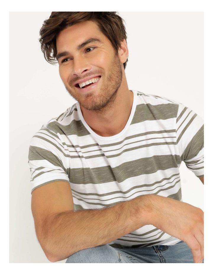 Tyson Stripe Short Sleeve Tee Khaki image 1