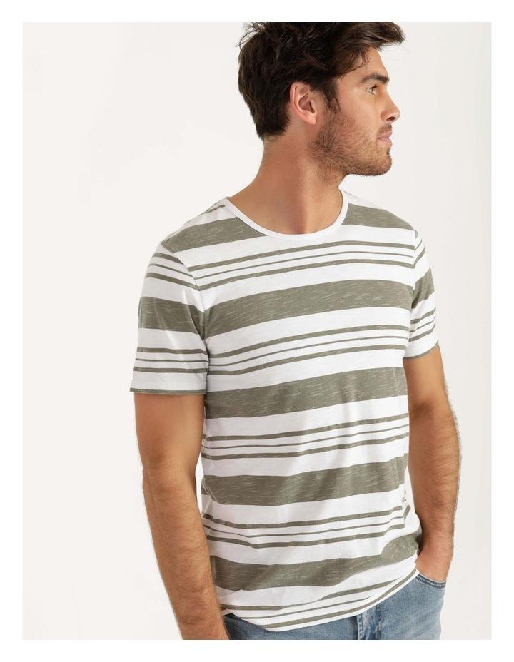 Tyson Stripe Short Sleeve Tee Khaki image 2