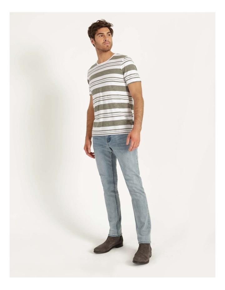 Tyson Stripe Short Sleeve Tee Khaki image 3