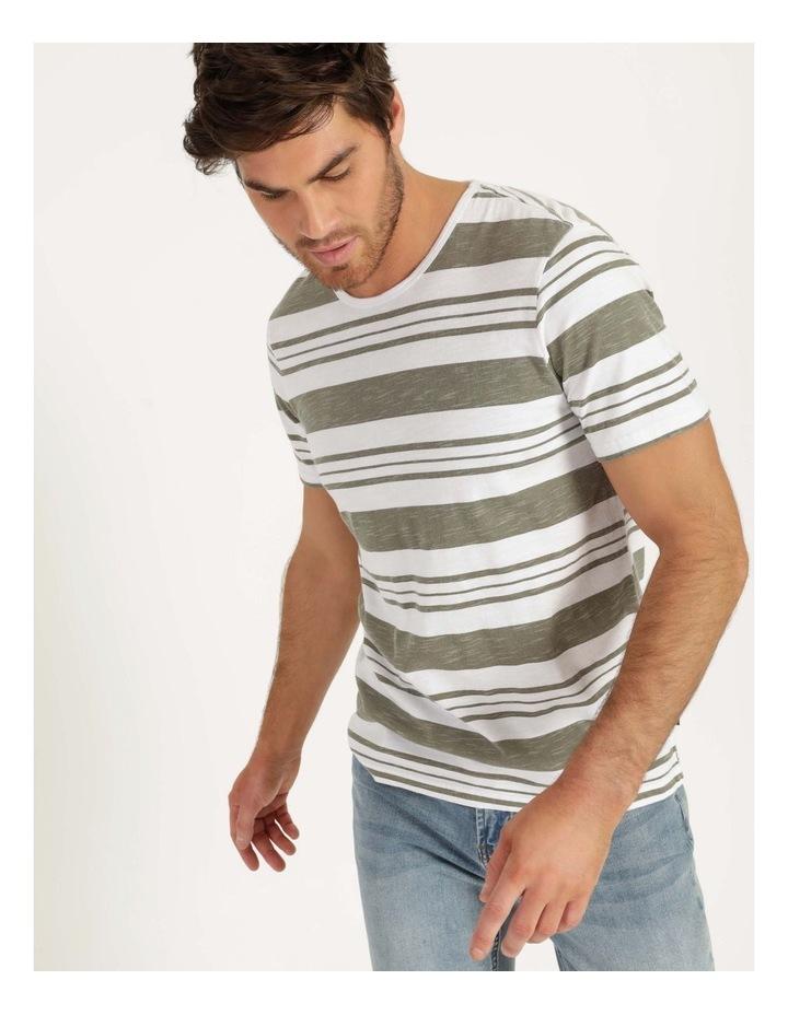 Tyson Stripe Short Sleeve Tee Khaki image 4