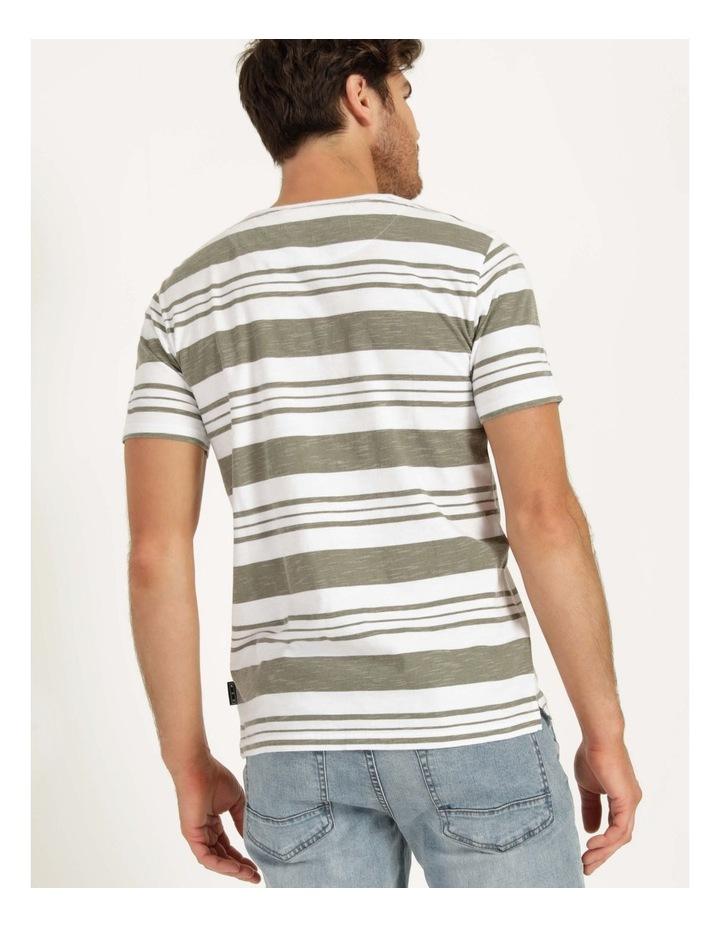 Tyson Stripe Short Sleeve Tee Khaki image 5