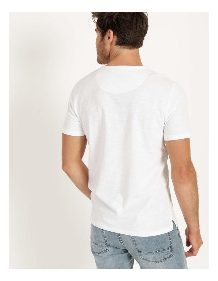 Besakih Printed Stripe Short Sleeve Tee White image 4