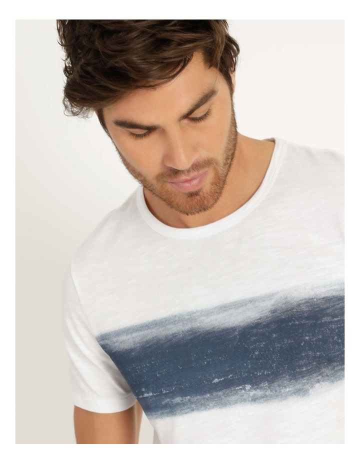Besakih Printed Stripe Short Sleeve Tee White image 5