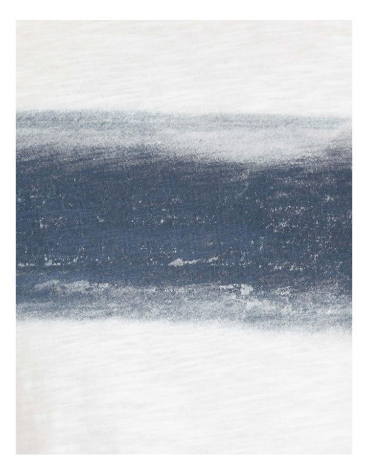Besakih Printed Stripe Short Sleeve Tee White image 6