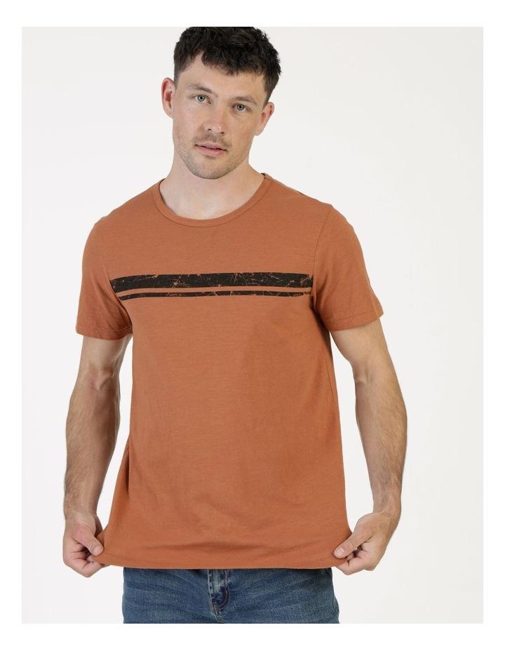 Melasti Printed Stripe Short Sleeve Tee image 1