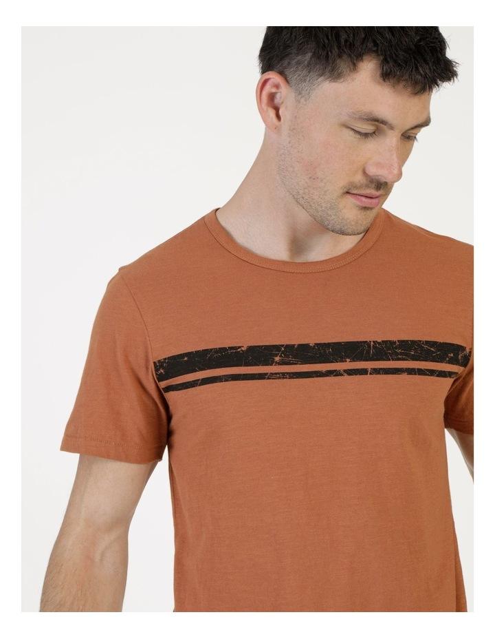 Melasti Printed Stripe Short Sleeve Tee image 2