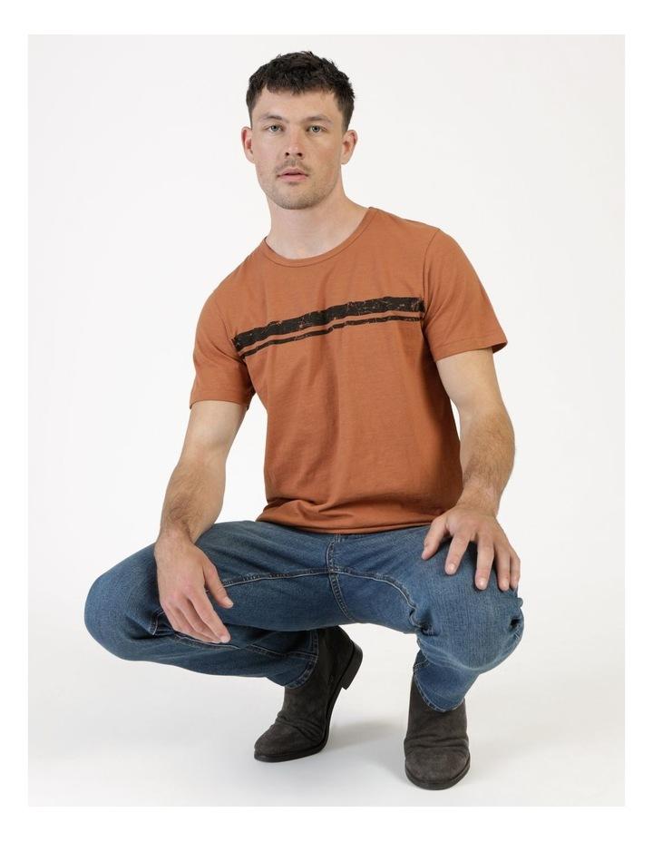 Melasti Printed Stripe Short Sleeve Tee image 5