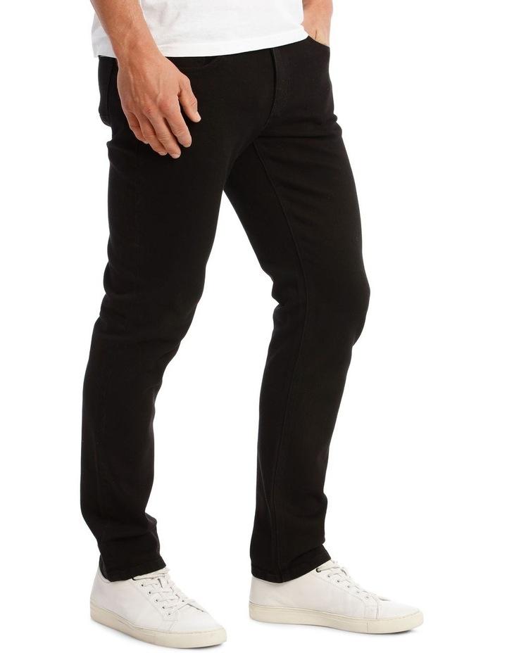 Kristian Slim Tapered Black Jean image 2