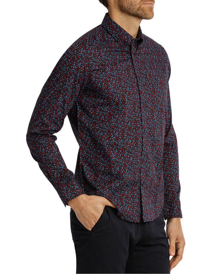 Long Sleeve Floral Print Mod Shirt image 2