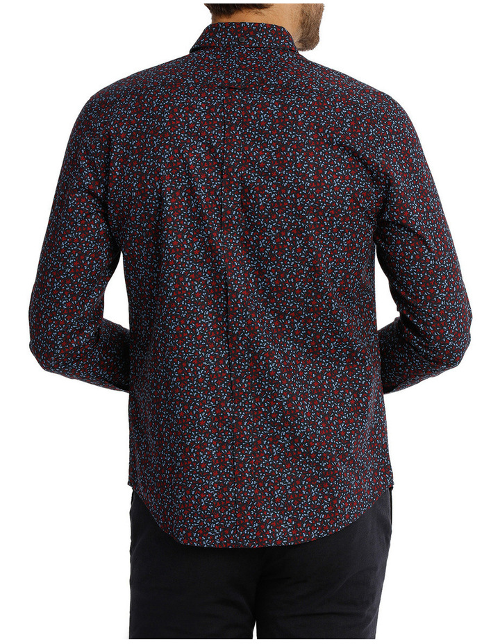 Long Sleeve Floral Print Mod Shirt image 3