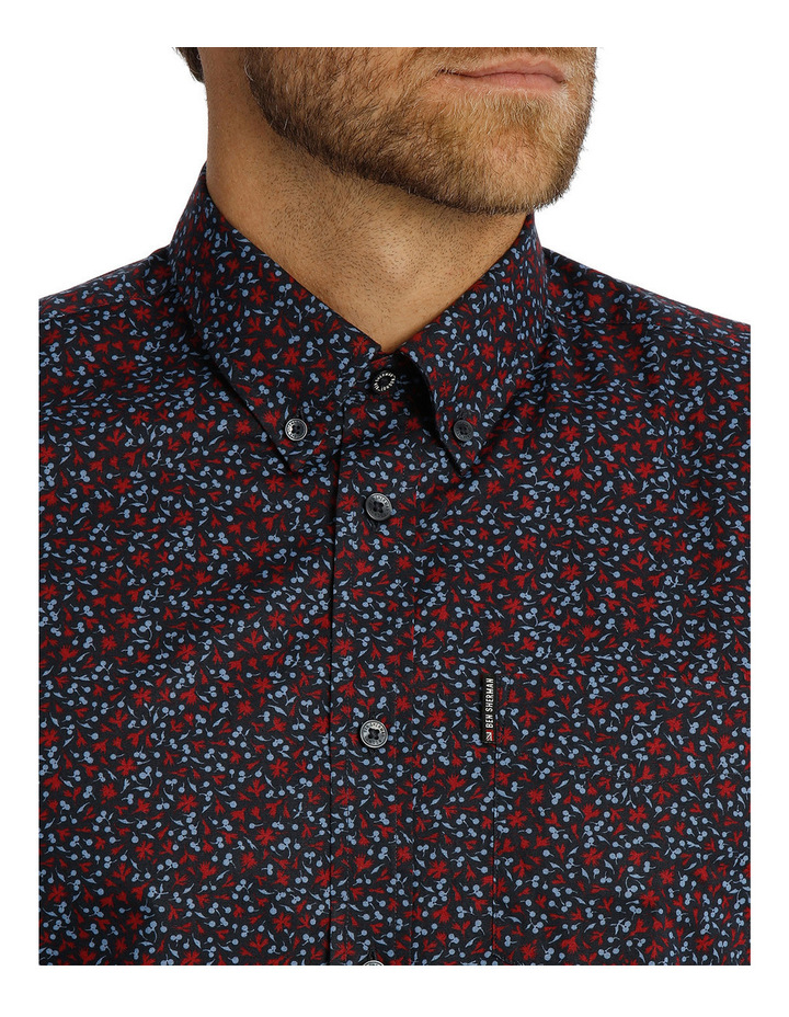 Long Sleeve Floral Print Mod Shirt image 4