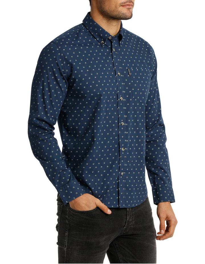 Long Sleeve Mini Floral Print Mod Shirt image 2