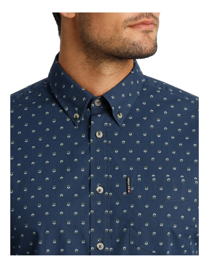 Long Sleeve Mini Floral Print Mod Shirt image 4