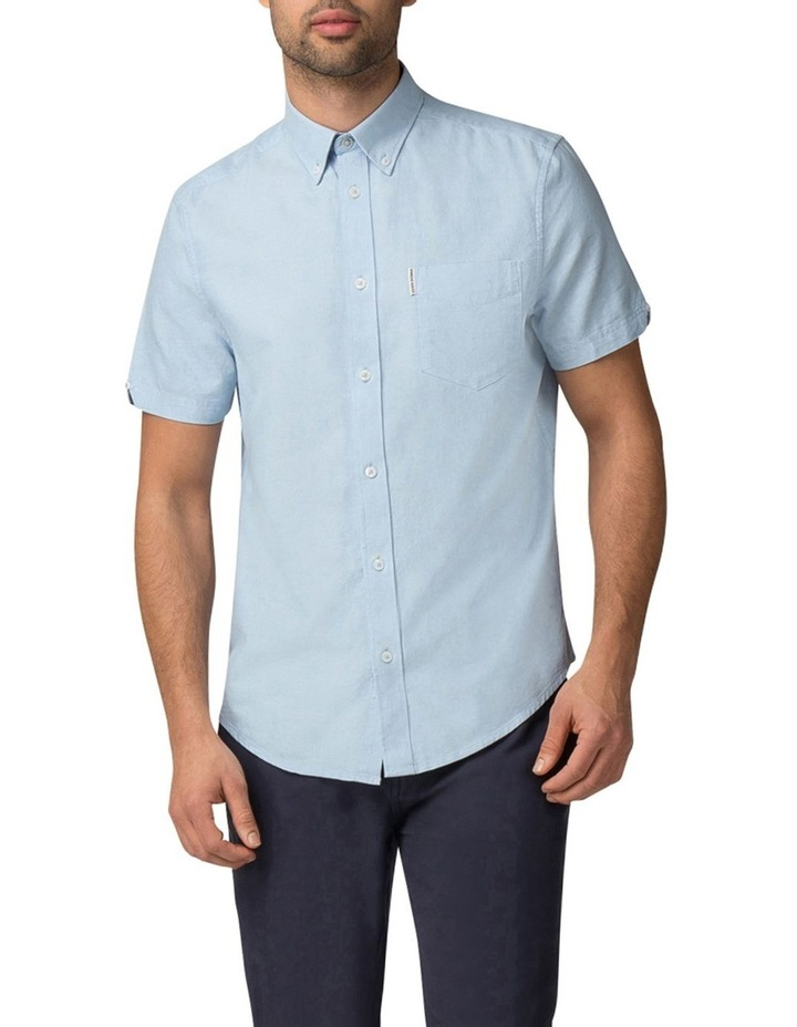Short Sleeve Classic Oxford Blue Shadow Shirt image 1