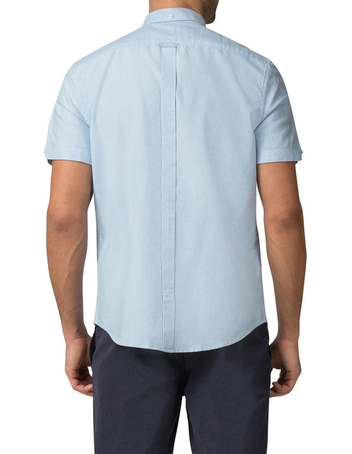 Short Sleeve Classic Oxford Blue Shadow Shirt image 2