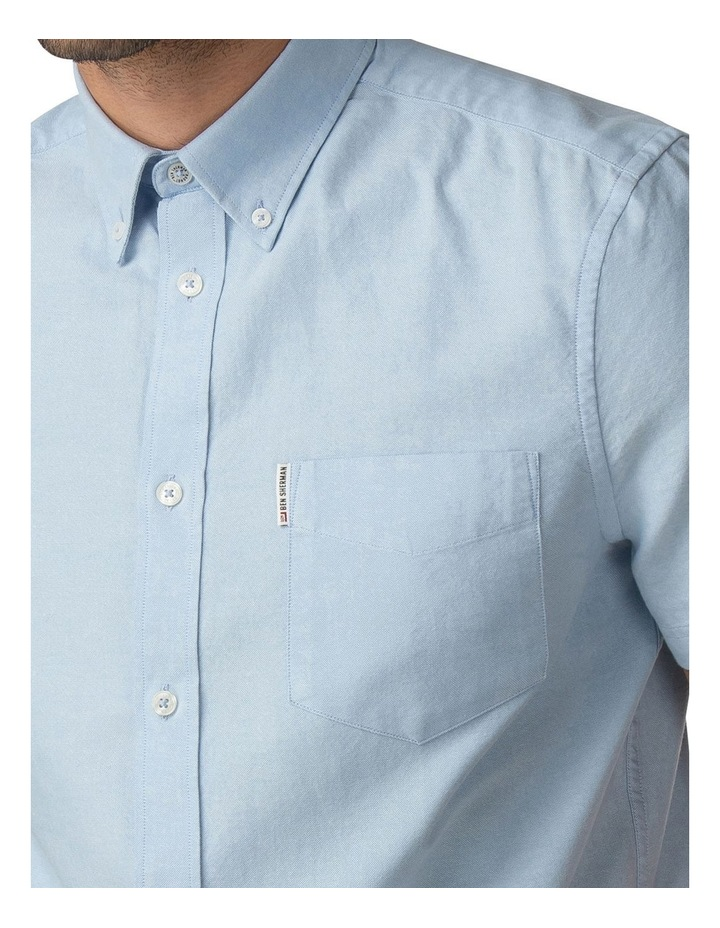 Short Sleeve Classic Oxford Blue Shadow Shirt image 3