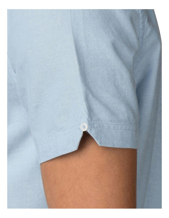 Short Sleeve Classic Oxford Blue Shadow Shirt image 5