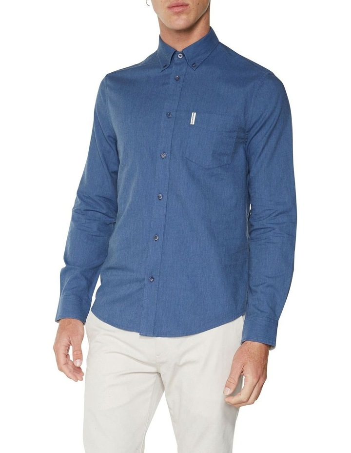 LS MARL OXFORD SHIRT BLUE image 1
