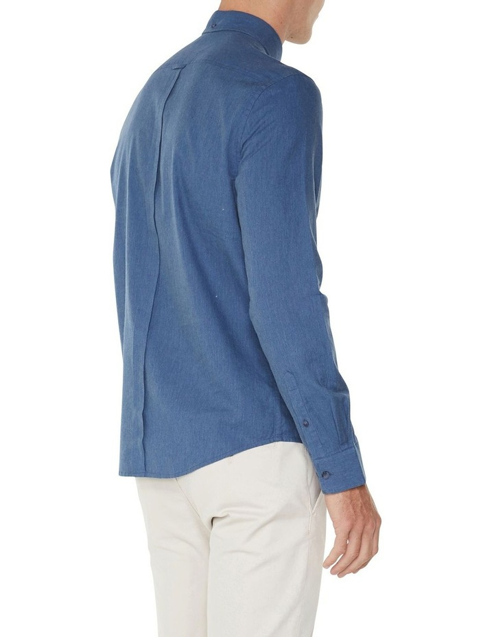 LS MARL OXFORD SHIRT BLUE image 3