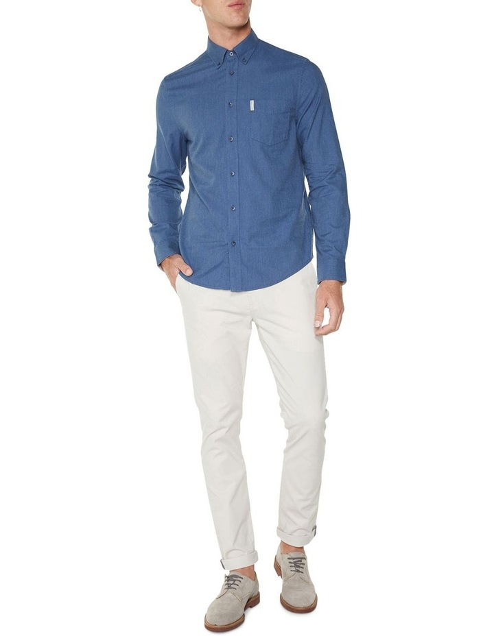 LS MARL OXFORD SHIRT BLUE image 4