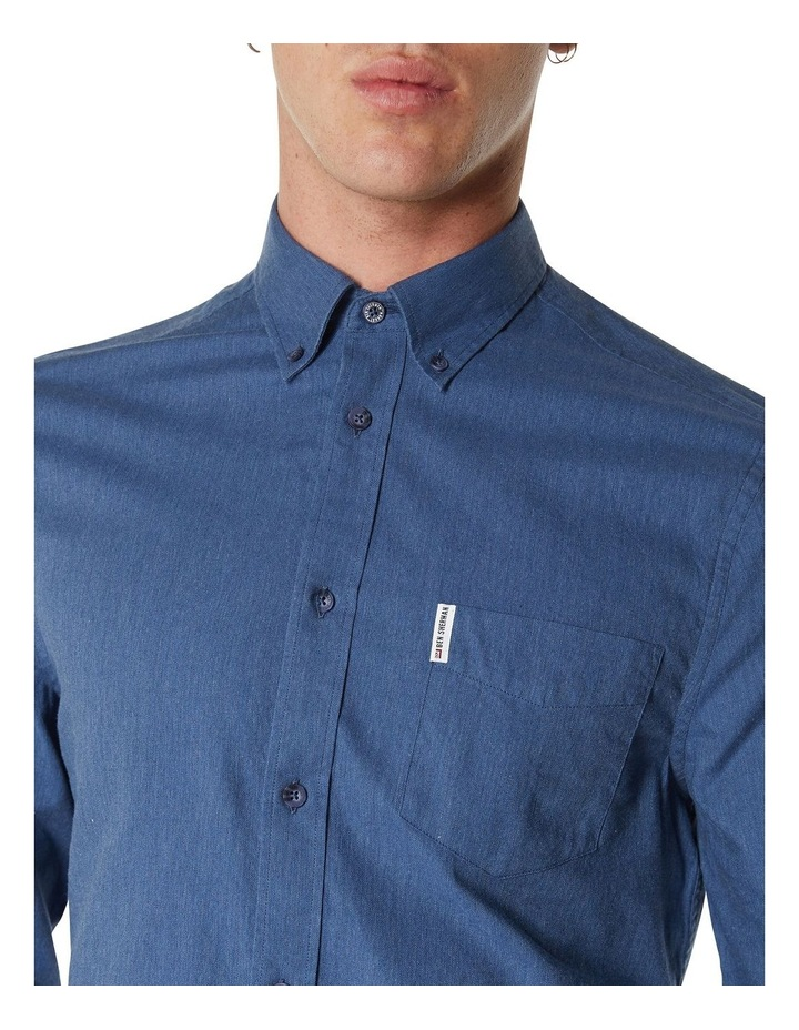 LS MARL OXFORD SHIRT BLUE image 5