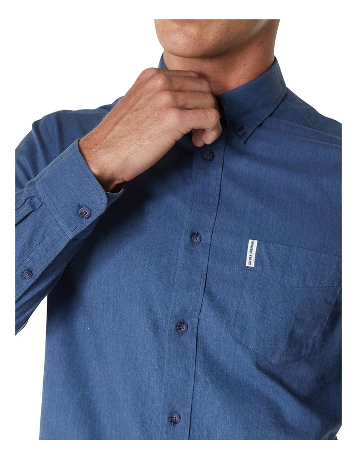 LS MARL OXFORD SHIRT BLUE image 6