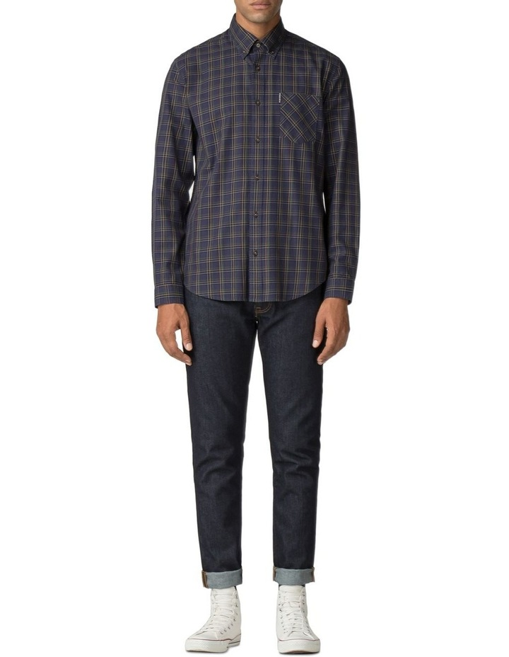 LS HERITAGE WINDOWPANE SHIRT NAVY image 2