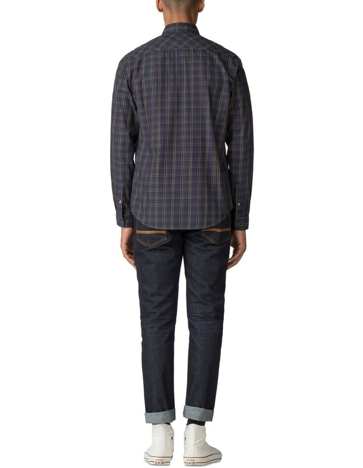 LS HERITAGE WINDOWPANE SHIRT NAVY image 3